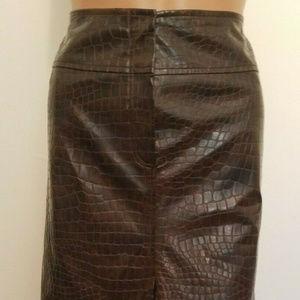 NANETTE LEPORE faux leather pencil skirt sz 2